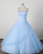 Pretty A-line Sweetheart Floor-length Quinceanera Dresses Appliques with Beading Style FA-Z-0075