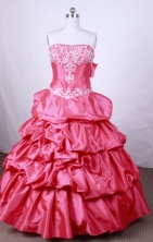 Pretty Ball Gown Strapless FLoor-Length Quinceanera Dresses Style L42431