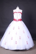 Pretty Ball Gown Strapless FLoor-Length Quinceanera Dresses Style LZ42446