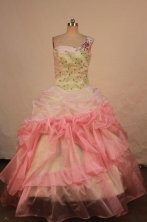Pretty Ball gown One shoulder neck Floor-length Vintage Quinceanera Dresses Style FA-W-342