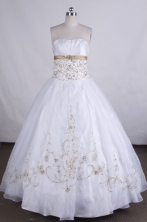 Pretty Ball gown Strapless Floor-length Beading Vintage Quinceanera Dresses L42406