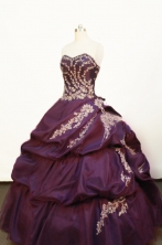 Pretty Ball gown Strapless Floor-length Purple Quinceanera Dresses Style FA-W-156