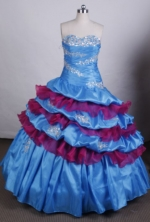 Pretty Ball gown Sweetheart Floor-length Vintage Quinceanera Dresses Appliques Style FA-Z-0052