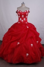 Romantic Ball Gown Off The Shoulder neckline FLoor-Length Quinceanera Dresses LZ42478