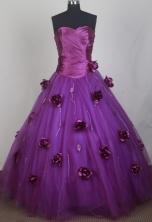 Romantic Ball Gown Sweetheart Neck Floor-length Vintage Quinceanera Dress LZ426047