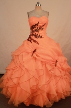 Romantic Ball gown Strapless Floor-length Vintage Quinceanera Dresses Style FA-W-331