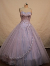 Simple A-line Sweetheart Floor-length Quinceanera Dresses Appliques with Beading Style FA-Z-0067