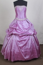Simple Ball gown Strapless Floor-length Vintage Quinceanera Dresses Style FA-W-r05