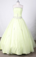 Sweet Ball Gown Strapless FLoor-Length Vintage Quinceanera Dresses Style FL42409