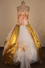 Unique Ball gown Strapless Floor-length Vintage Quinceanera Dresses Style FA-W-346