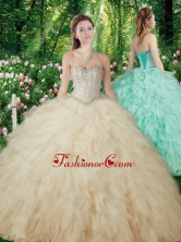Vintage Ball Gowns Beading and Ruffles Sweet 16 Dresses SJQDDT302002FOR