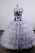 Wonderful Ball gown Strapless Floor-length Vintage Quinceanera Dresses L42401