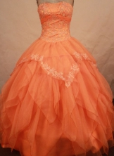 Wonderful Ball gown Strapless Floor-length Vintage Quinceanera Dresses Style FA-W-307