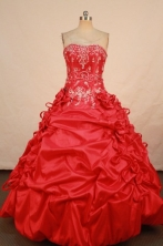 Wonderful Ball gown Strapless Floor-length Vintage Quinceanera Dresses Style FA-W-347