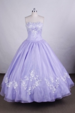 Wonderful Ball gown StraplessFloor-length Quinceanera Dresses Appliques Style FA-Z-0021