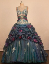 Popular Ball Gown Straps Floor-Length Quinceanera Dresses Style FA-S-384