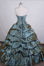 Affordable Ball gown Strapless Floor-length Quinceanera Dresses Beading Style FA-Z-0049