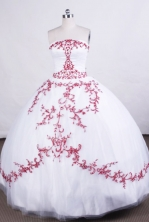 Beautiful Ball gown StraplessFloor-length Quinceanera Dresses Embroidery Style FA-Z-0023