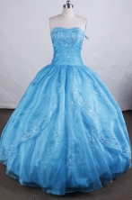 Beautiful Ball gown Sweetheart Floor-length Quinceanera Dresses Appliques Style FA-Z-0041