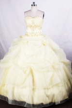 Beautiful Ball gown Sweetheart Floor-length Quinceanera Dresses Appliques with Beading Style FA-Z-001