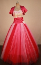 Cheap Ball Gown Strapless Floor-Length Hot Pink Quinceanera Dresses Style LJ42758