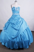 Elegant Ball gown Sweetheart Floor-length Quinceanera Dresses Appliques with Beading Style FA-Z-0042