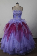 Exclusive Ball Gown Strapless Floor-length Colorful Quincenera Dresses TD260022