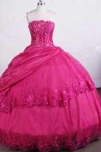 Exclusive Ball gown Strapless Floor-length Quinceanera Dresses Appliques with Beading Style FA-Z-0017