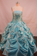 Fashionable Ball gown Strapless Floor-Length Quinceanera Dresses Style FA-Y-160