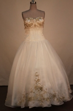 Low price Ball Gown Sweetheart Neck Floor-Length Quinceanera Dresses Style X042430