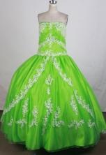 Luxurious Ball Gown Strapless Floor-length Quinceanera Dress ZQ12426065