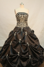 Modest Ball gown Strapless Floor-Length Quinceanera Dresses Style FA-Y-159