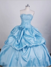 Modest Ball gown Sweetheart Floor-length Quinceanera Dresses Beading Style FA-Z-0051