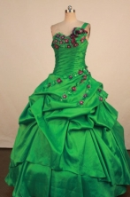 Perfect Ball Gown One Shoulder Neck Floor-Length Quinceanera Dress LZ42458
