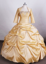 Perfect Ball gown Sweetheart Floor-length Quinceanera Dresses Appliques Style FA-Z-006
