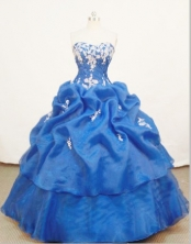 Perfect Ball gown Sweetheart Floor-length Quinceanera Dresses Appliques Style FA-Z-0060