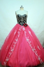 Pretty A-line Sweetheart Floor-length Appliques Quinceanera Dresses FA-Z-00130