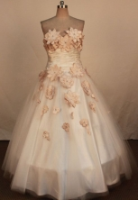 Simpel Ball Gown Strapless Floor-Length White Quinceanera Dresses Style LJ042441