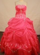 Sweeet Ball Gown Strapless Floor-Length Quinceanera Dresses Style X042476