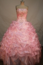 Sweet Ball Gown Strapless Floor-Length Quinceanera Dresses Style X042422