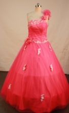 Sweet Ball gown One shoulder neck Floor-Length Quinceanera Dresses Style FA-Y-123