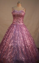 Sweet Ball gown Strap Floor-Length Quinceanera Dresses Style FA-Y-124