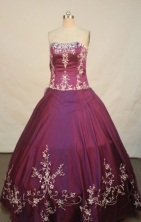 Sweet Ball gown Strapless Floor-Length Quinceanera Dresses Style FA-Y-107