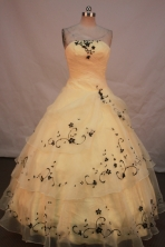 Sweet Ball gown Strapless Floor-Length Quinceanera Dresses Style FA-Y-144