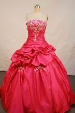 Sweet Ball gown Strapless Floor-Length Quinceanera Dresses Style FA-Y-149