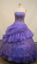 Sweet Ball gown Strapless Floor-Length Quinceanera Dresses Style FA-Y-164