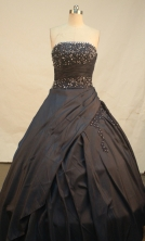 Sweet Ball gown Strapless Floor-length Quinceanera Dresses Beading Style FA-Y-00102