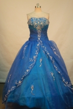 Sweet Ball gown Strapless Floor-length Quinceanera Dresses Style FA-C-116