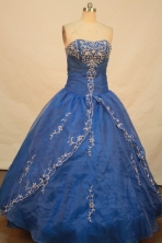 Sweet Ball gown StraplessFloor-length Quinceanera Dresses Embroidery Style FA-Y-0021