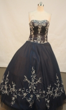 Sweet Ball gown Sweetheart Floor-length Quinceanera Dresses Embroidery with Beading Style FA-Y-0058